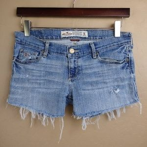 Hollister Distressed Cutoff Frayed Denim Shorts